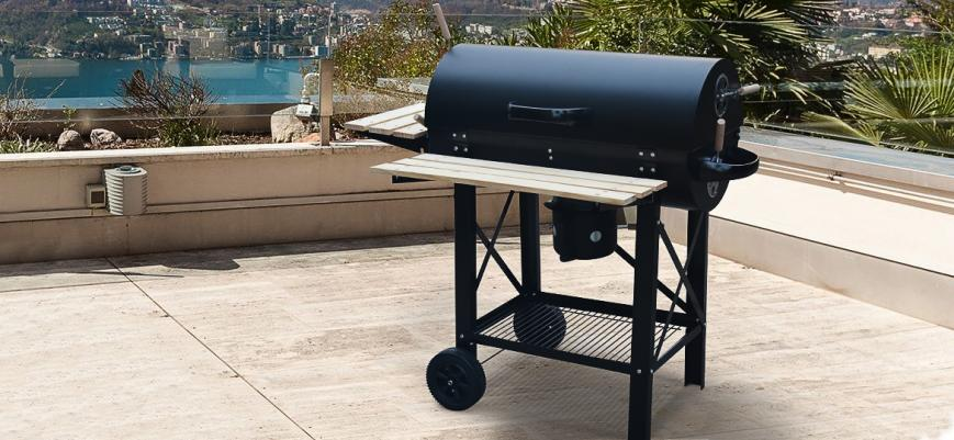 Serge                   -                   American style charcoal smoker barbecue with ash collector