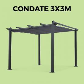 CONDATE 3X3M                                                                                                                                                      - Pergola, Aluminio, Gris, 3x3 m | Condate3X3