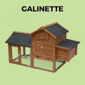 GALINETTE                                                                                                                                                      - Gallinero de madera, 3 gallinas - GALINETTE