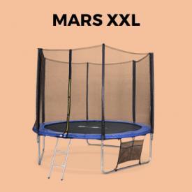 MARS XXL                                                                                                                                                      - Cama elástica 305 cm, hasta 150 kg, kit completo, trampolín Azul, Mars XXL