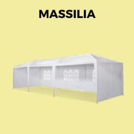 MASSILIA                                                                                                                                                      - Carpas para eventos y jardín, Blanco, 3x9 m | Massilia
