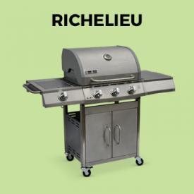 RICHELIEU                                                                                                                                                      - Barbacoa de gas, cocina de exterior, Inox, 3 quemadores + 1 fuego - Richelieu Gris