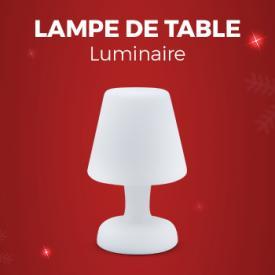 """<img src=""""https://api.alicesgarden.solutions/uploads/category/tab/fr_FR/ONGLET-OP-IDEES-CADEAUX.jpg"""" alt=""""Idées Cadeaux"""" title=""""Idées Cadeaux"""">                                                                                                                                                      - Lampe de table LED forme lampe 26cm, luminaire extérieur résistant à l'eau, recharge sans fil"""