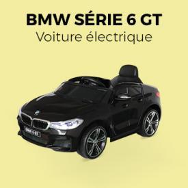Jeux plein air                                                                                                                                                      - BMW Série 6 GT Gran Turismo noire, voiture électrique enfants 12V 4 Ah, 1 place