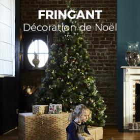 Décorations de jardin                                                                                                                                                      - Sapin de Noël artificiel Deluxe de 210 cm avec guirlande lumineuse, décorations et pied inclus