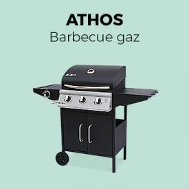 Athos                                                                                                                                                      - Barbecue au gaz Athos cuisine extérieure 3 brûleurs + feu latéral avec thermomètre