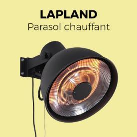 Lapland                                                                                                                                                      - Parasol chauffant électrique 2000W mural - Lapland - Chauffage d'extérieur type halogène