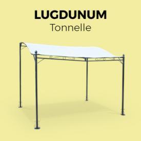 Lugdunum                                                                                                                                                      - Tente de jardin pergola 3x2,5m Lugdunum toile écru barnum tonnelle terrasse murale