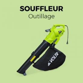 Souffleur 3000W                                                                                                                                                      - Aspirateur, souffleur et broyeur à feuilles 3000W VOLTR, Outil électrique avec variateur de puissance