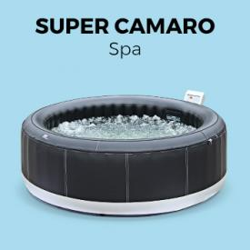 Super Camaro                                                                                                                                                      - Spa 205cm 6 personnes gonflable Super Camaro MSPA, cuir noir, avec accessoires