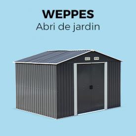 WEPPES                                                                                                                                                      - Abri de jardin en métal - WEPPES 7 m² anthracite - Cabane à outils,  grandes portes coulissantes