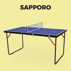 Buiten speeltoestellen                                                                                                                                                      - Vouwbare mini tafeltennis INDOOR blauw Sapporo, met 2 rackets en 3 ballen