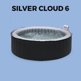 Zwembaden spa's                                                                                                                                                      - 205 cm Opblaasbaare spa MSPA ronde-vormig Ø205cm, grijs, 6 personen