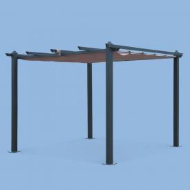 Condate 3x3M                                                                                                                                                      - Pérgola, aluminio, cinzento, caramanchões, 3x3 m | Condate